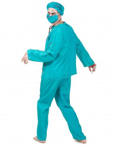 Déguisement chirurgien zombie Halloween adulte-2