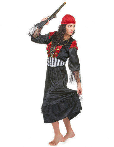 Déguisement pirate robe longue femme-1