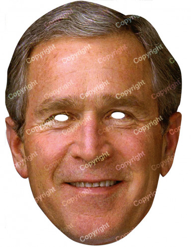 Masque carton George Bush
