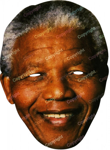 Masque carton Nelson Mandela