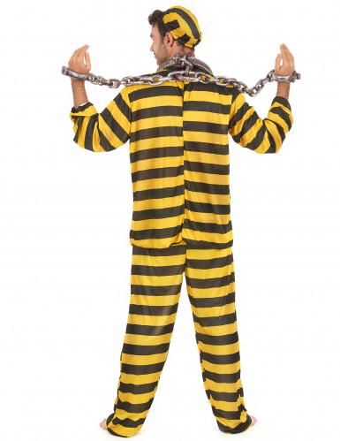 Déguisement prisonnier jaune adulte-2