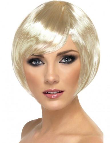 Perruque cabaret courte blonde femme
