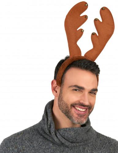 Serre-tête renne à grelots Noël-1