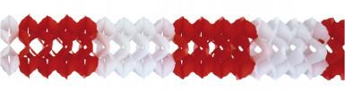 Guirlande rouge et blanche