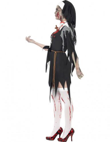 Déguisement zombie religieuse femme Halloween -1