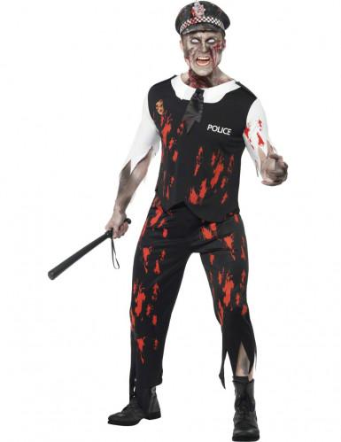 Déguisement zombie sanglant policier homme