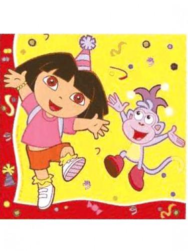 20 Serviettes en papier Dora l'Exploratrice™ 33 x 33 cm