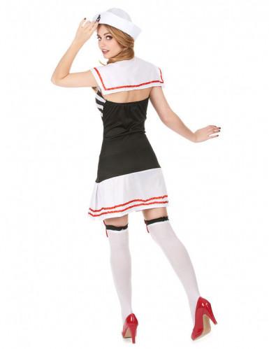 Déguisement marin noir et blanc femme-1