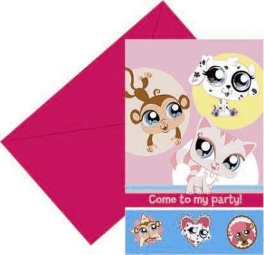 6 cartes d'invitation Pet Shop™