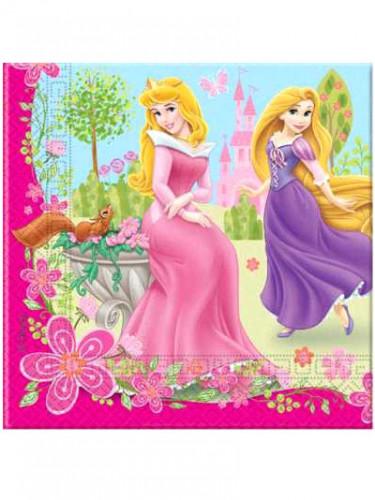 20 Serviettes en papier Princesse Summer Palace™ 33 x 33 cm