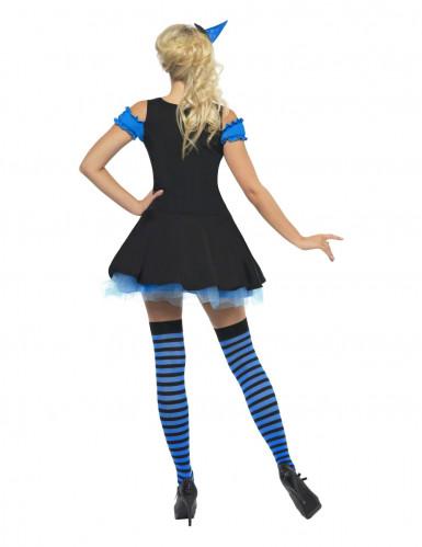 Déguisement sorcière sexy bleue femme Halloween-1