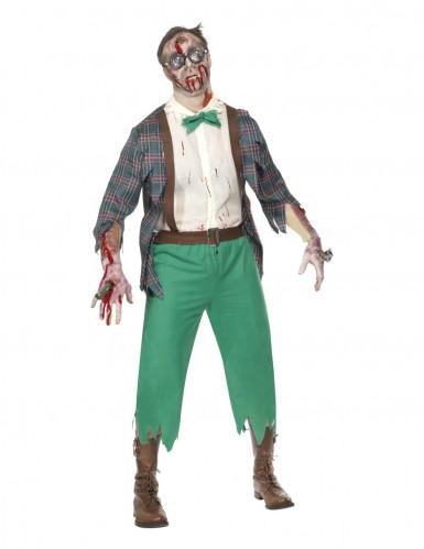 Déguisement zombie geek homme