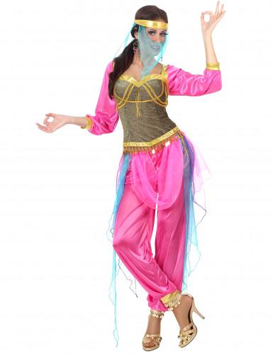 Déguisement danseuse arabe rose adulte