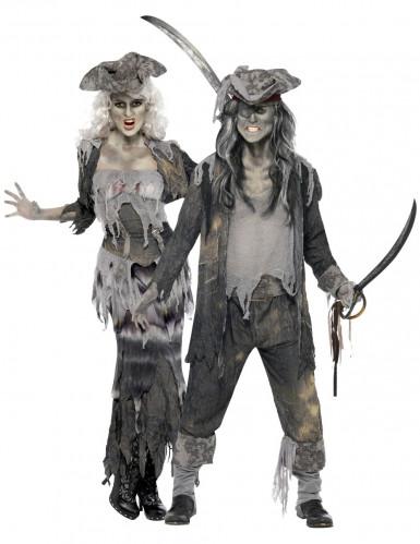 Déguisement de couple pirate fantôme Halloween