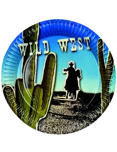 Lot de 6 assiettes western