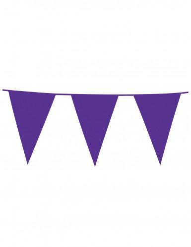 Guirlande à fanions géants violets 10m