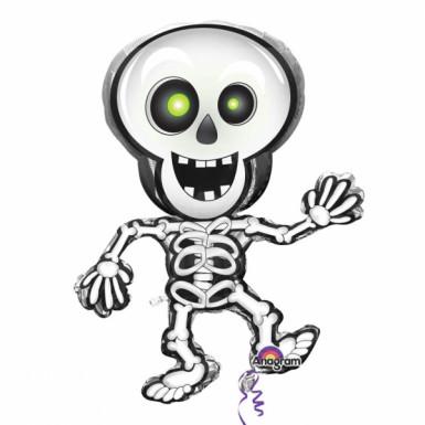 Ballon alluminium squelette Halloween