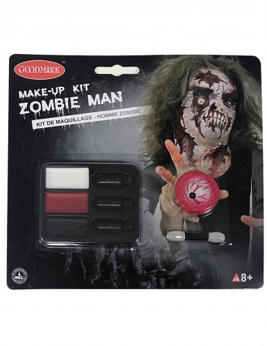 Kit maquillage zombie adulte Halloween-2