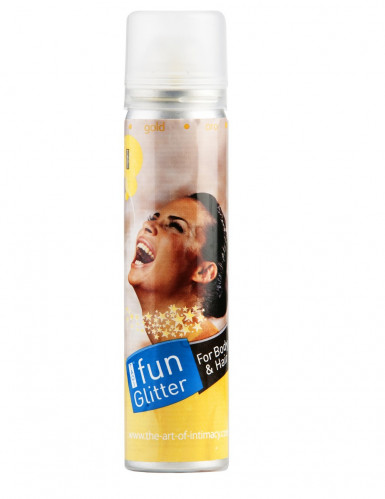 Spray corps et cheveux paillettes or