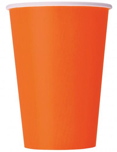 8 Gobelets en carton orange 25 cl