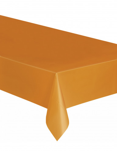 Nappe rectangulaire en plastique orange 137 x 274 cm