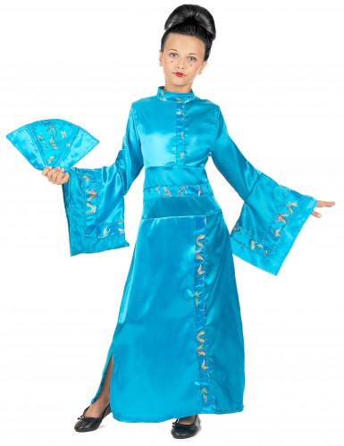 Déguisement chinoise bleue fille