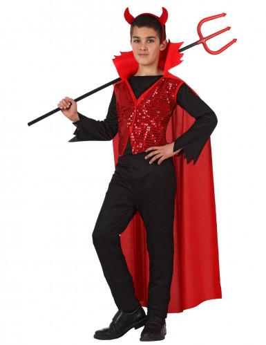 Déguisement diable enfant à sequins Halloween