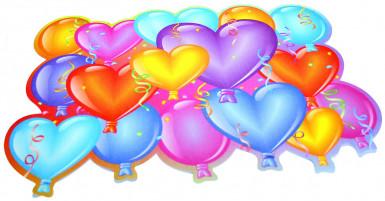 6 sets de table imprimés ballons Joyeux Anniversaire