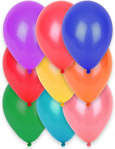 12 Ballons multicolores 28 cm