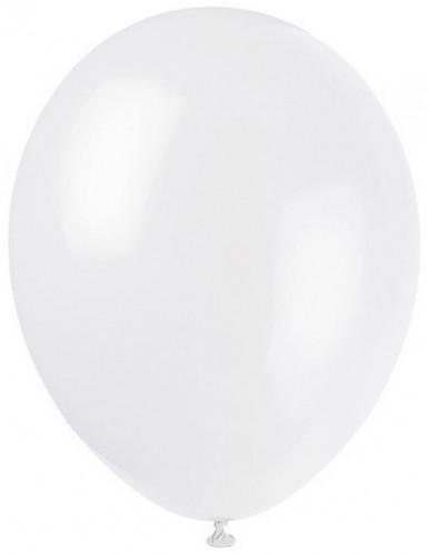 12 Ballons blancs 28 cm