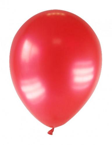 12 Ballons métallisés rouges 28 cm