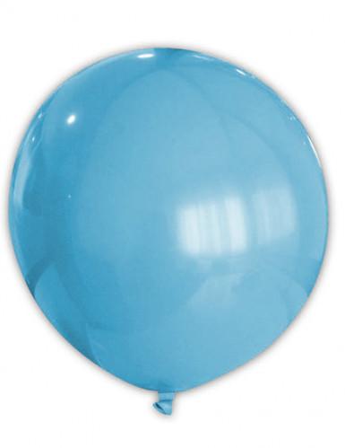Ballon bleu clair 80 cm