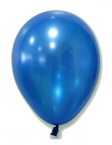 100 Ballons bleus métallisés 29 cm