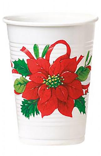 8 Gobelets Fleur de Noël