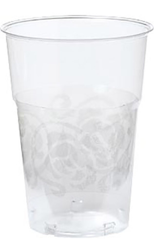 Gobelets Crystal arabesque argentée