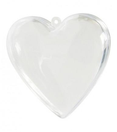 6 Coeurs transparents 6 cm