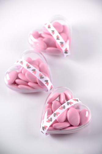 6 Coeurs transparents 6 cm-1