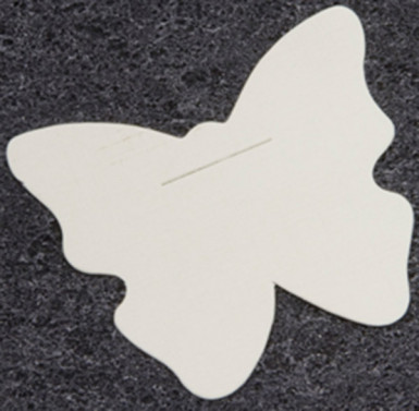 10 Cartes unies papillons blanches 4 x 5 cm