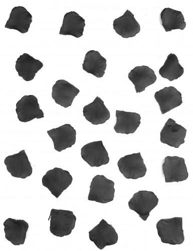 100 Pétales de rose en tissu noir 5 cm-1