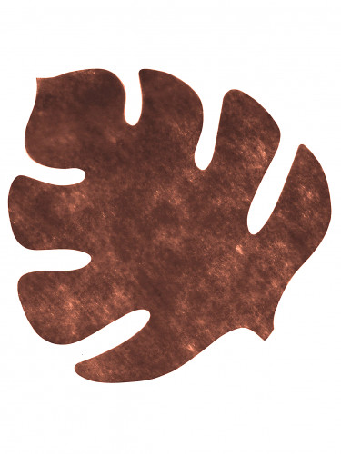 4 Sets de table en forme de feuille marron 35 x 40 cm