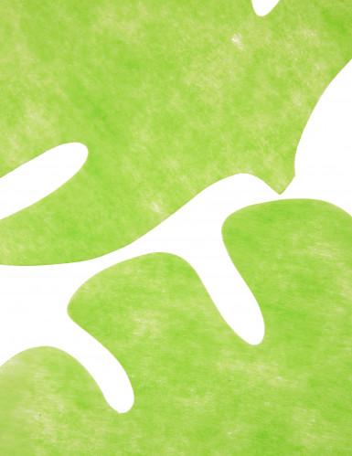 4 Sets de table en forme de feuille vert anis 35 x 40 cm-1