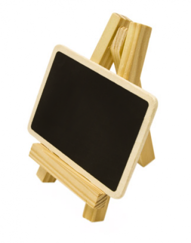Chevalet avec ardoise 6 x 10 cm