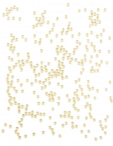 Perles effet goutte de pluie ivoire 80 g-1