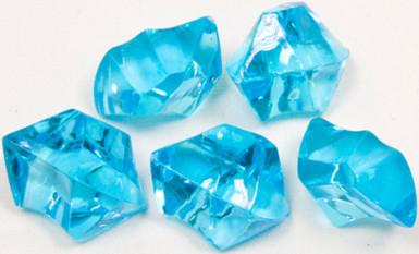 Pierres effet cristal turquoise 100 g