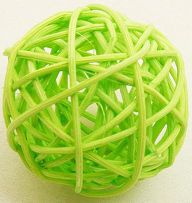 6 Boules en osier vert anis (Dia. 3,5 cm)