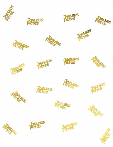 Confettis de table joyeuses fêtes or-1