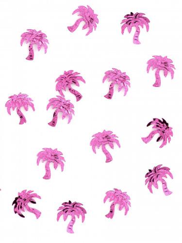 Confettis de table forme palmier fuchsia 10 gr