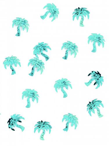 Confettis de table forme palmier turquoise 10 gr