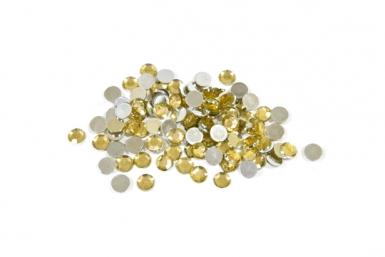 100 Petits confettis de table ronds dorés 0,6 cm