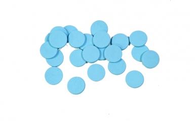36 Confettis de table ronds turquoise 1,2 cm